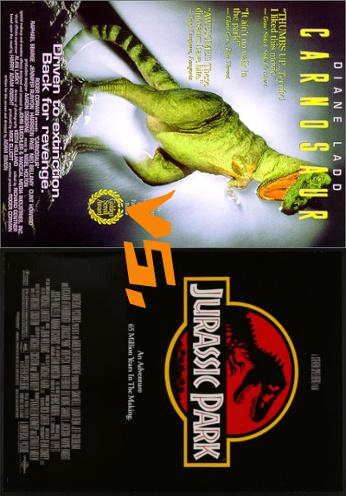 Carnosaur vs Jurassic Park